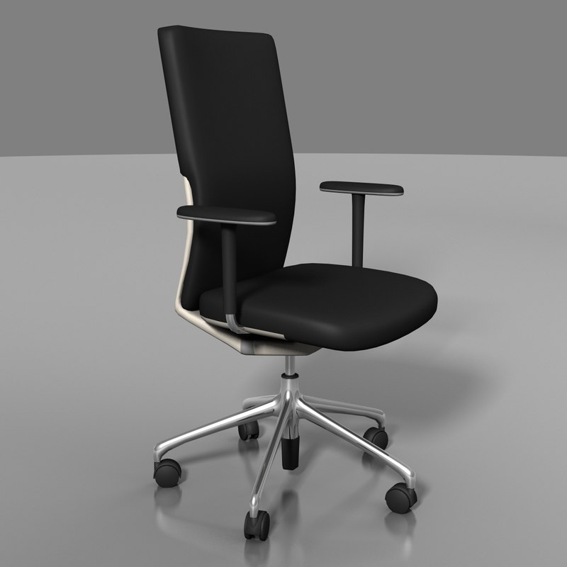 3d vitra axess office swivel chair model
