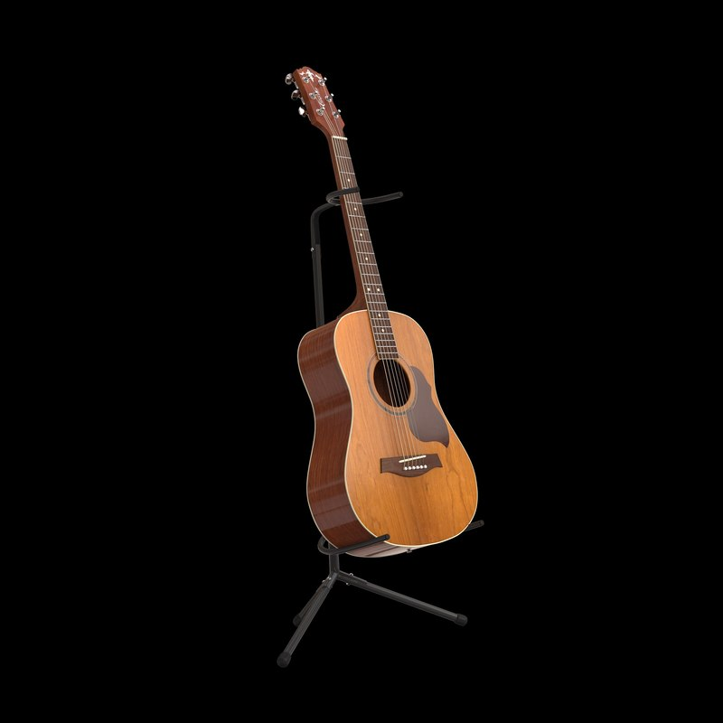 crafter ga8 acoustic guitar 3d model