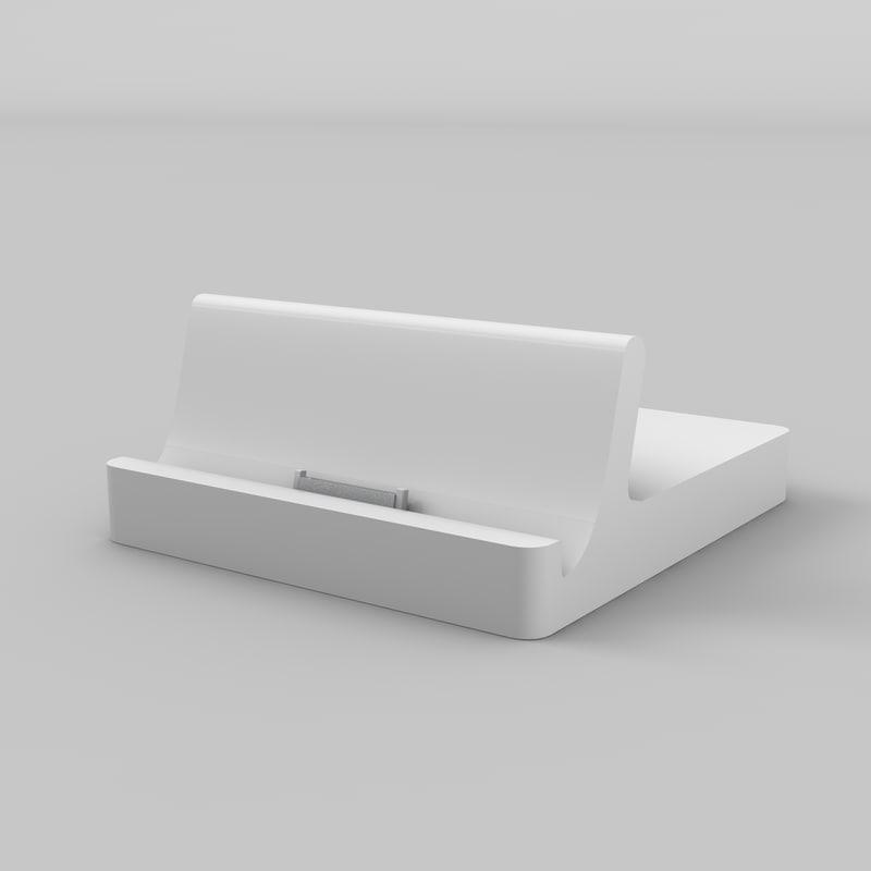 apple ipad dock 3d model