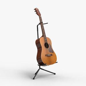 crafter ga8 acoustic guitar 3d model