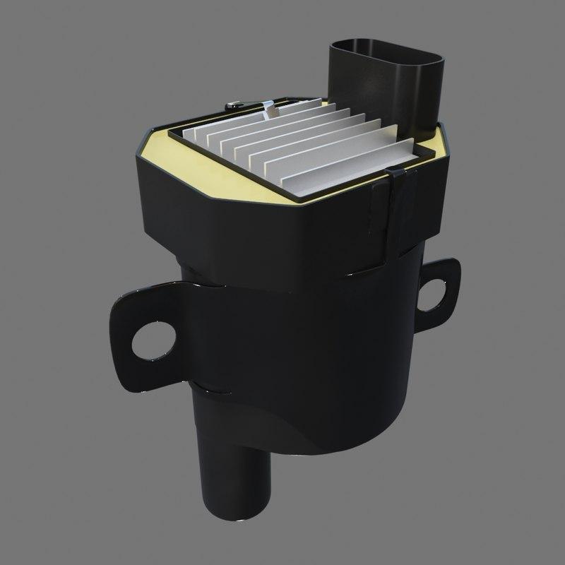 ignition coil 3d model