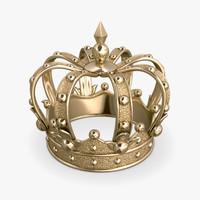 gold crown 3d obj
