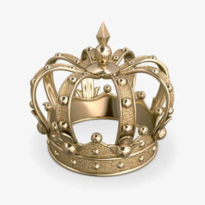 gold crown 3d obj