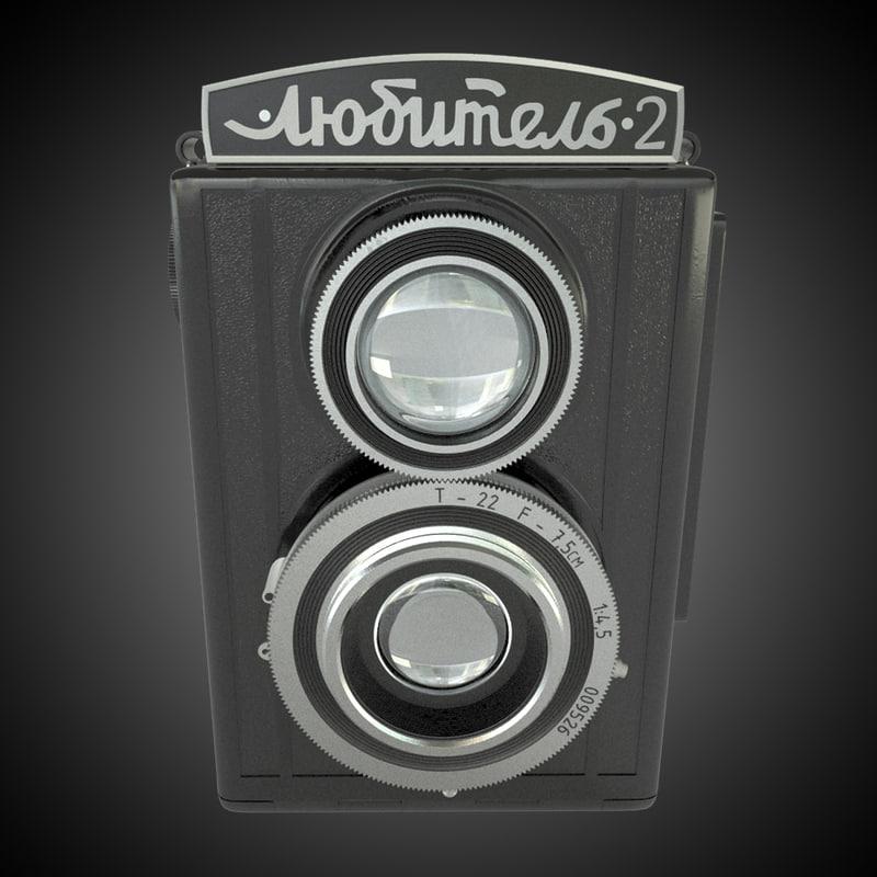 russia old camera lubitel 3d model