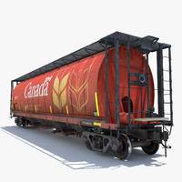 3d model railway grain car cargo train