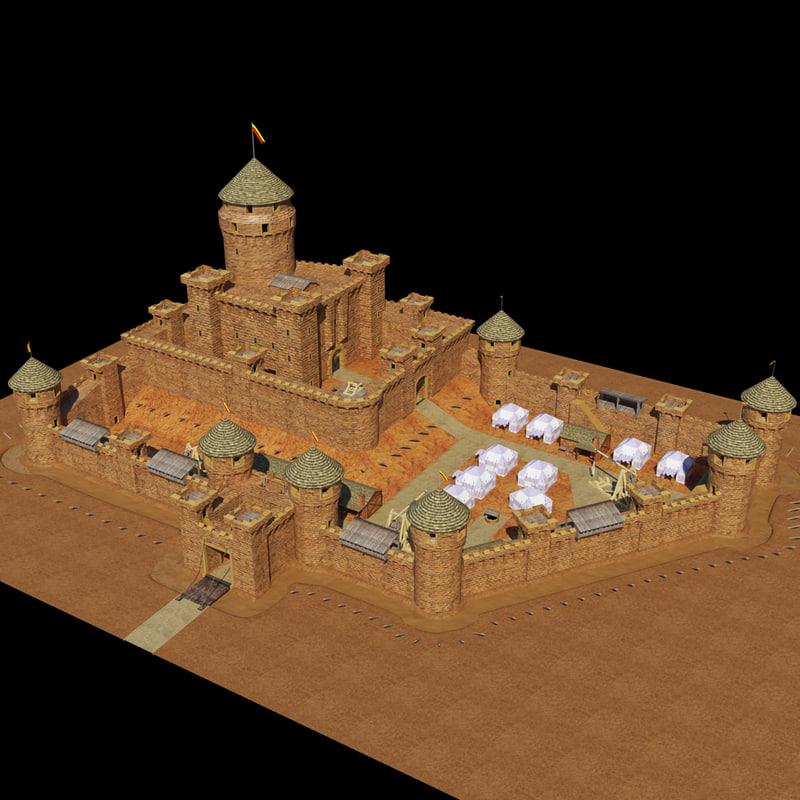 medieval castle model