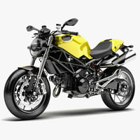 bike ducati monster 1100 3d c4d