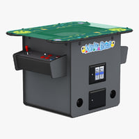 3d model arcade multigame table