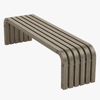3d model elegant bench