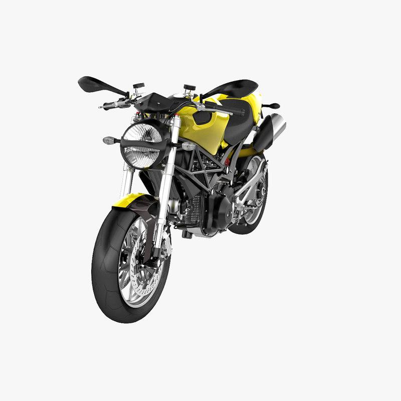 bike ducati monster 1100 3d c4d
