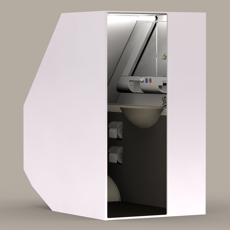 boeing restroom 3d model