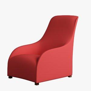 3d chair cloth arm