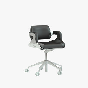 interstuhl silver office chair 3d max
