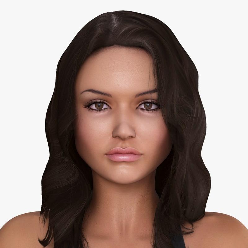 3dsmax american woman character allison