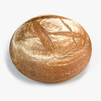 3d model of brown bread