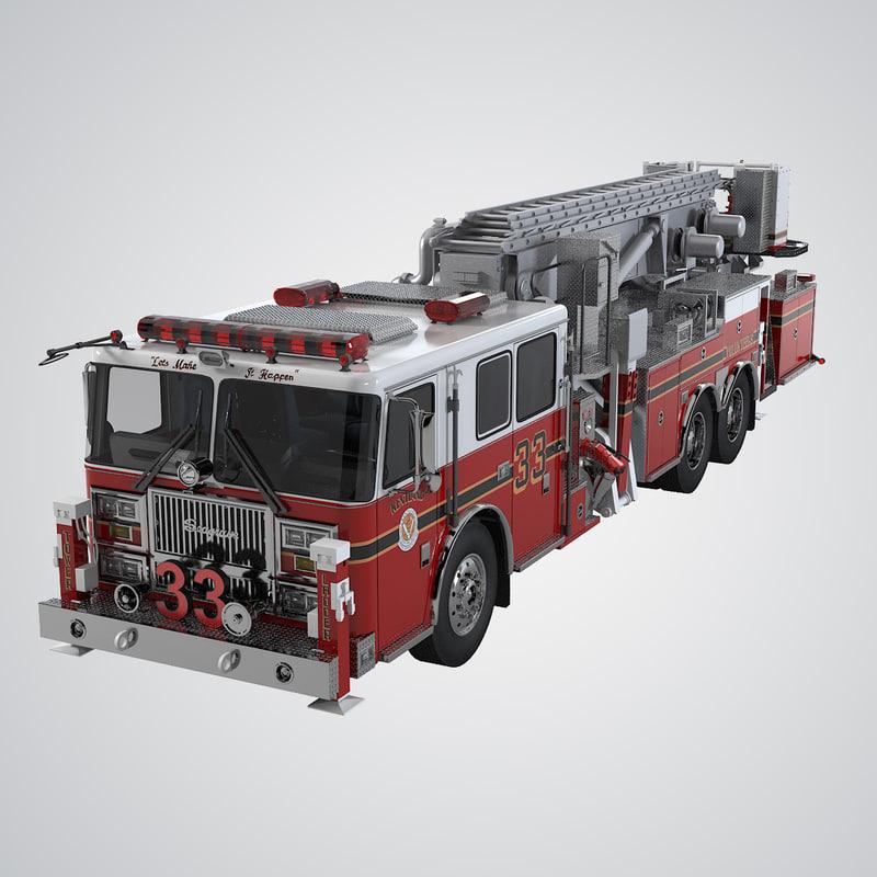 Seagrave Fire Apparatus >> 3d Seagrave Apparatus Model