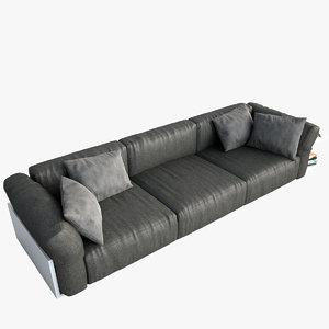 realistic sofa cassina mex 3d max