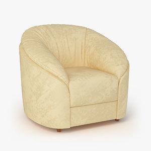 armchair donata chair furniture 3d max