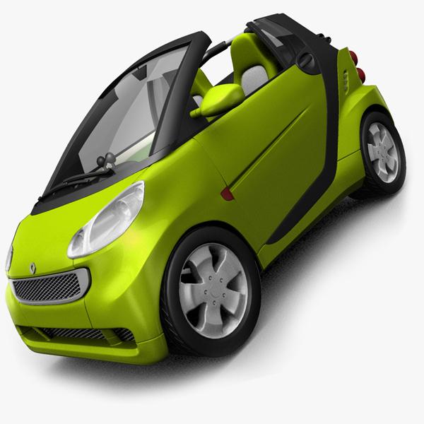 maya smart fortwo cab opened