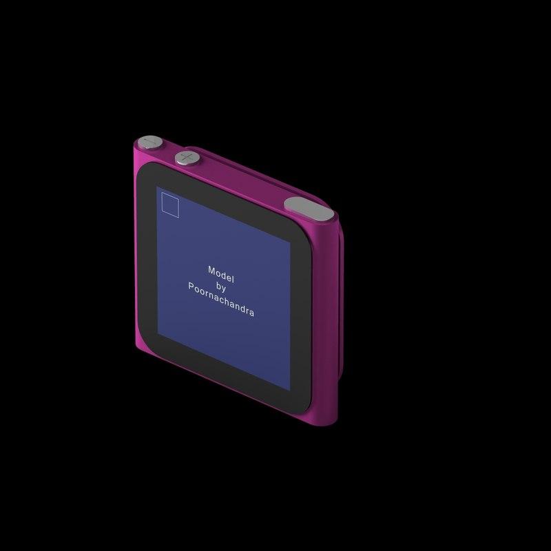 ipod nano 6th 3d model