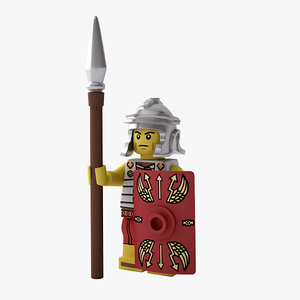 3d rigged lego roman soldier