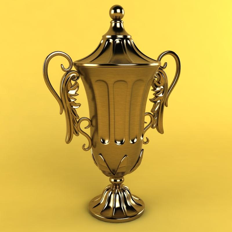 metal urn 3d 3ds