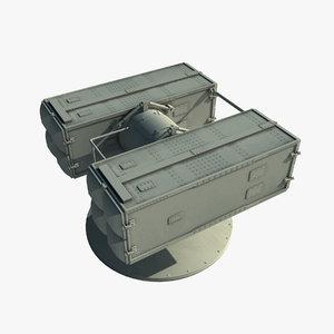 rim-7 sea sparrow missile launcher 3d max
