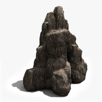 rocky cliffs rock 3d model