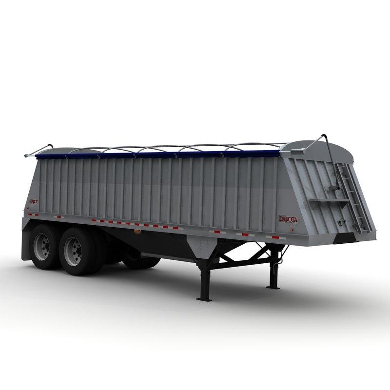 dakota 28ft grain trailer 3d lwo