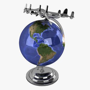 3d vintage globe air