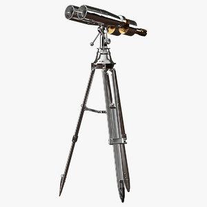 3d 1920s naval tabletop binoculars