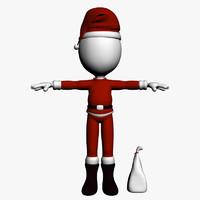 model dummy santa clause