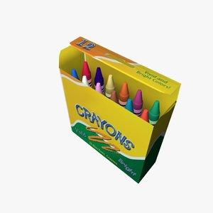 maya crayons box