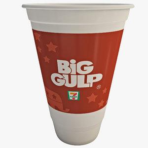 3d big gulp model