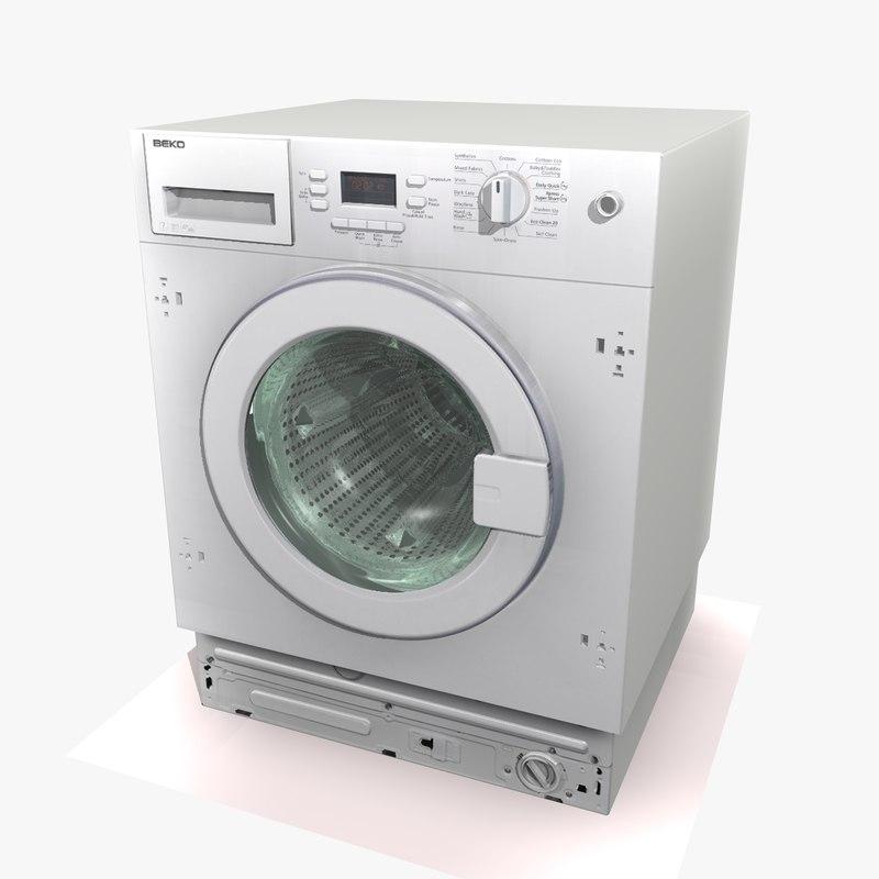 washing machine 3 3d model