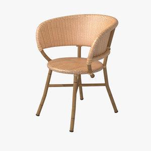 outdoor chair wicker 3d model