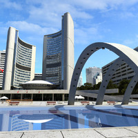 3d obj toronto city hall nathan
