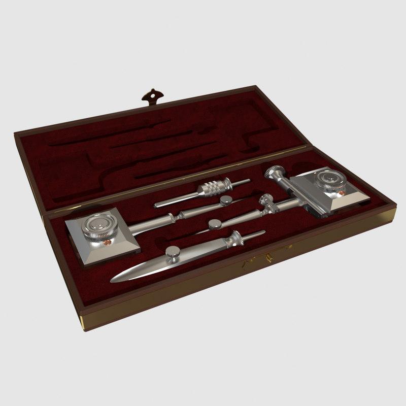 3d model compasses case