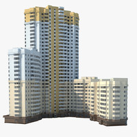 housing estate 3d max