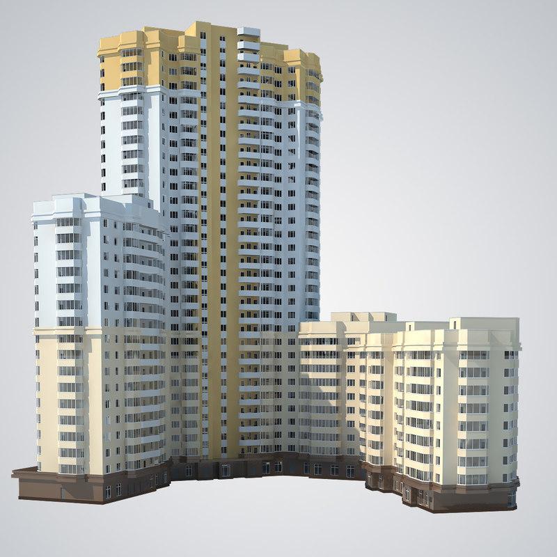 housing estate 3d max