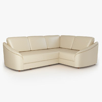 3d model corner sofa donata furniture