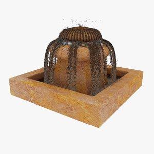 3dsmax lorenzo fiberglass fountain