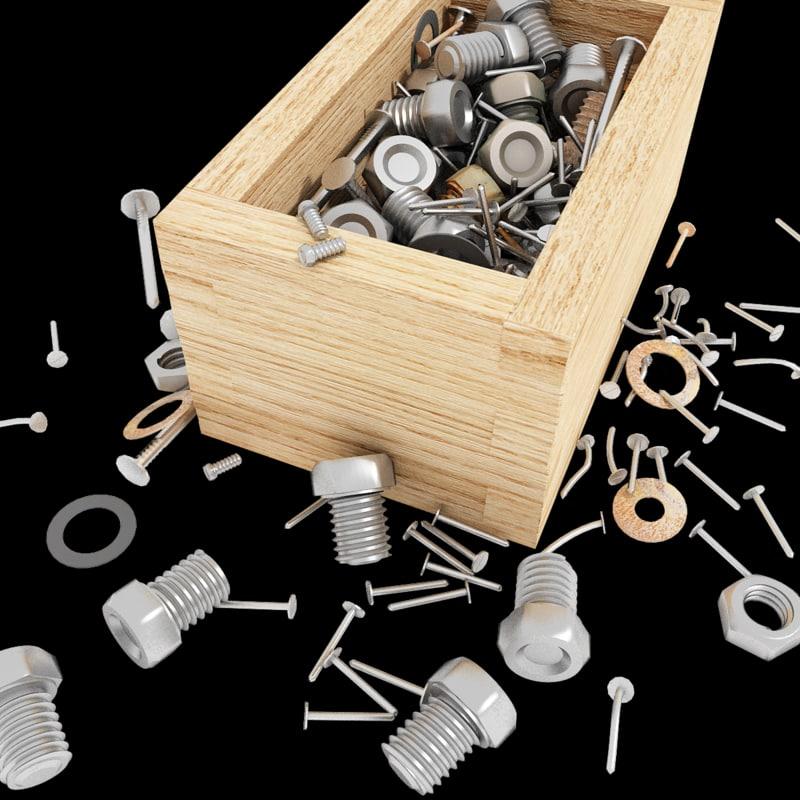 max nail-scrow box nail