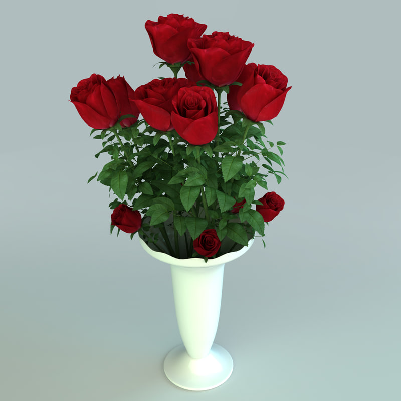 roses flower 3d model