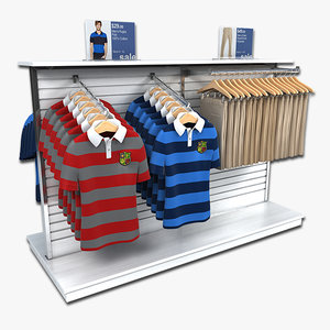clothing mens rugby polo 3d model