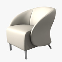 3d model keilhauer croft lounge chair