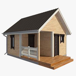 3d model log house