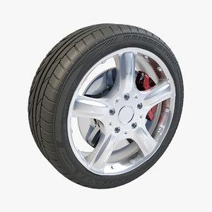 max 5 spokes wheel bridgestone potenza