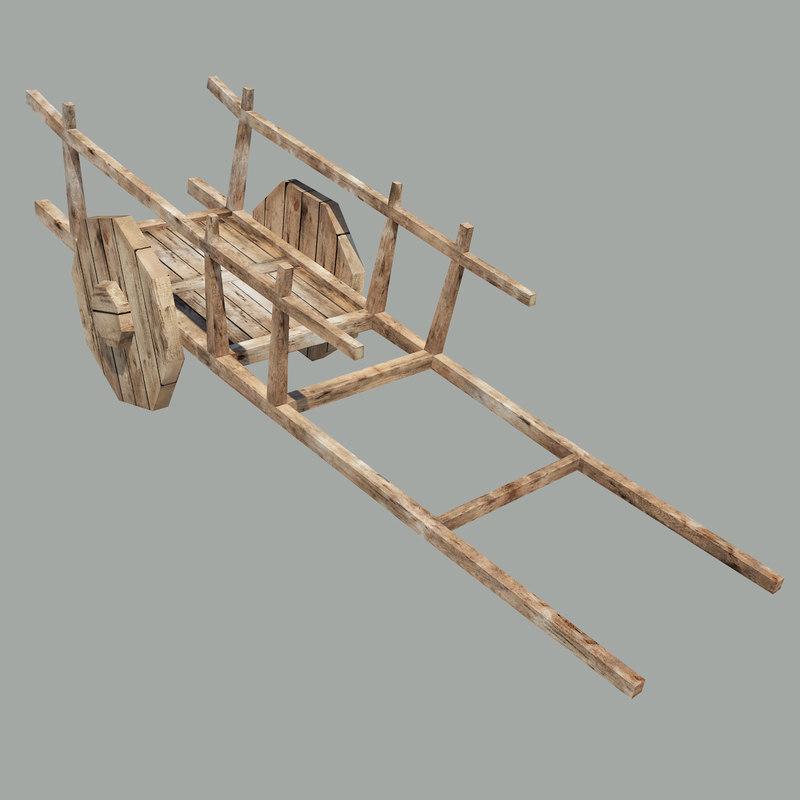 3ds max wood wagon