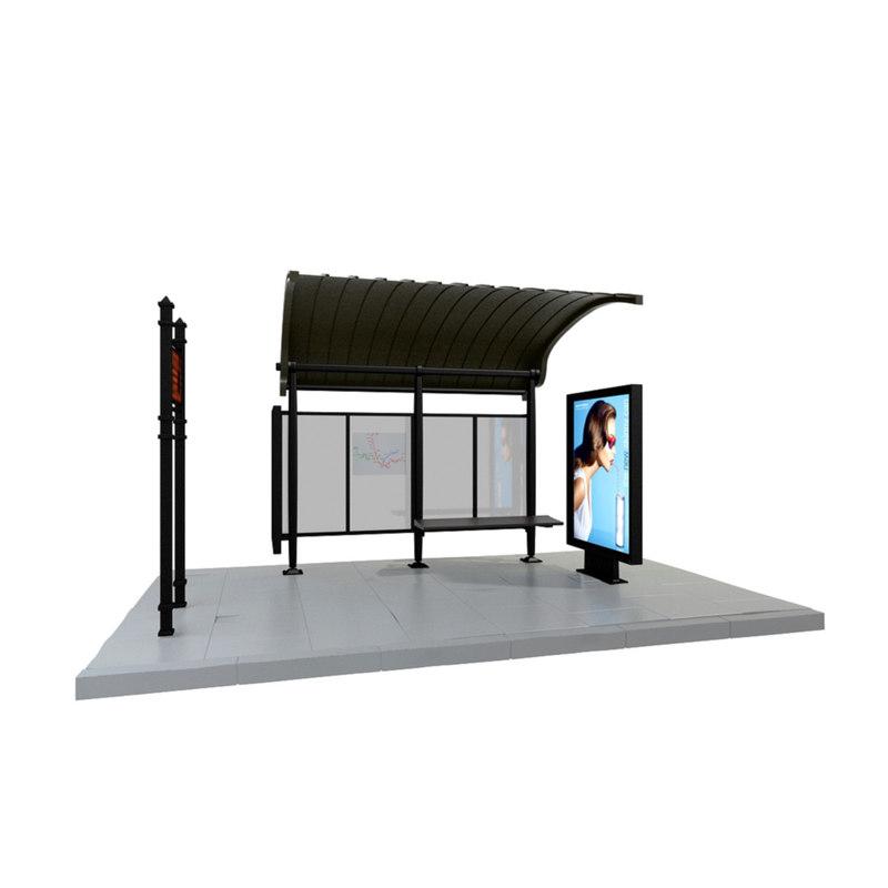 3d bus stop model